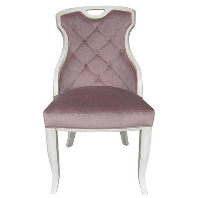 Trotman Velvet Serenity Upholstered Dining Chair Upholstery Color: Rose Quartz