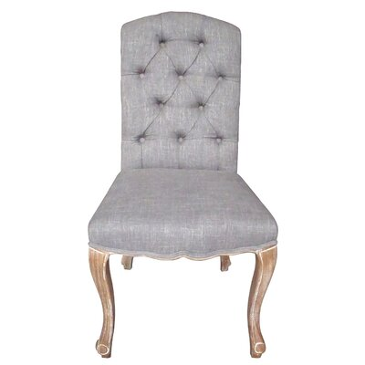 Aucoin Estelle Designer Upholstered Dining Chair Upholstery: Gray