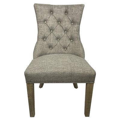 Glenisle Upholstered Dining Chair Upholstery: Taupe