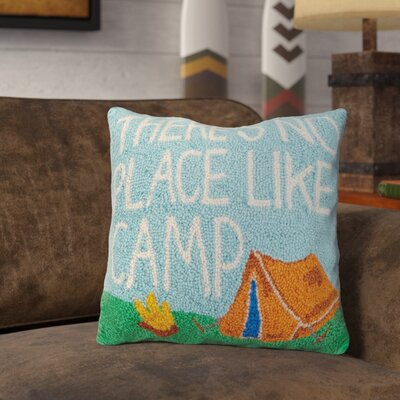 Ranson No Place Like Camp Wool Throw Pillow