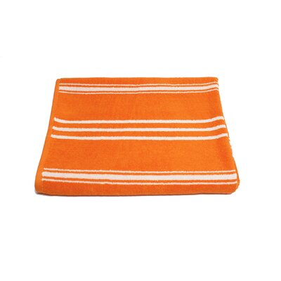 Sand Free 100% Cotton Beach Towel Color: Orange
