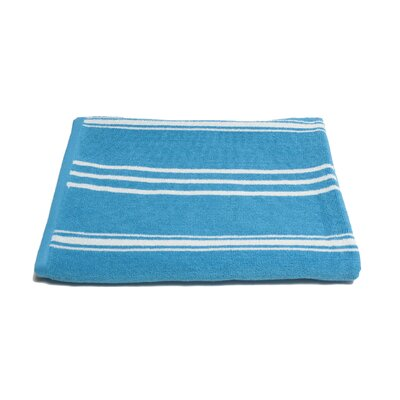 Sand Free 100% Cotton Beach Towel Color: Pool