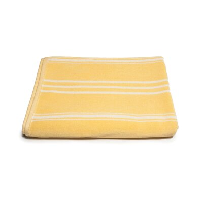 Sand Free 100% Cotton Beach Towel Color: Yellow