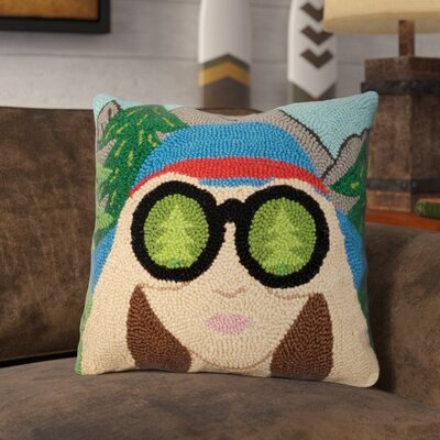 Rezendes Binoculars Wool Throw Pillow