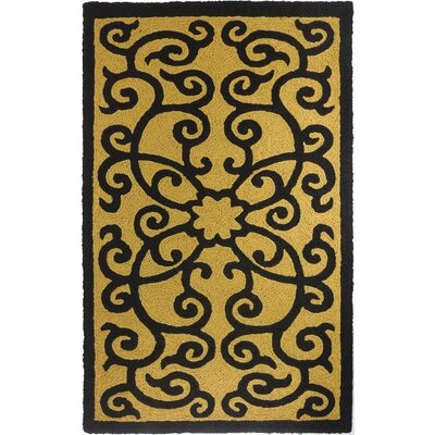 Clayfield Iron Gate Hand-Hooked Brown Indoor/Outdoor Area Rug Rug Size: Rectangle 410 x 66