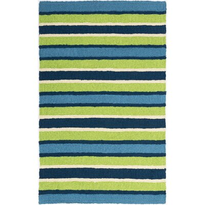 Carvell South Bay Hand-Hooked Lime Green Indoor/Outdoor Area Rug Rug Size: Rectangle 410 x 66