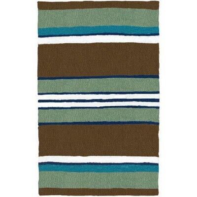 Caterina Woodbine Hand-Hooked Brown Indoor/Outdoor Area Rug Rug Size: Rectangle 410 x 66