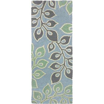 Jaramillo Serenity Garden Hand-Hooked Gray Indoor/Outdoor Area Rug Rug Size: Runner 19 x 46