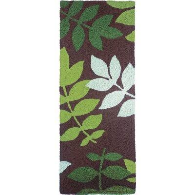 Janney Natures Floor Hand-Hooked Brown Indoor/Outdoor Area Rug Rug Size: Runner 19 x 46