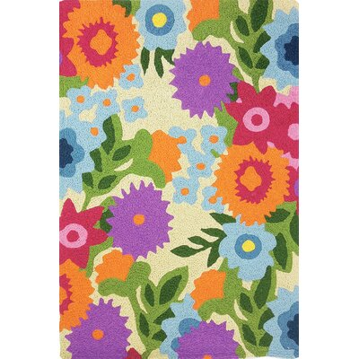 Iser Flowery Garden Hand-Hooked Purple Indoor/Outdoor Area Rug Rug Size: Rectangle 410 x 66