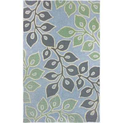 Jaramillo Serenity Garden Hand-Hooked Gray Indoor/Outdoor Area Rug Rug Size: Rectangle 210 x 46