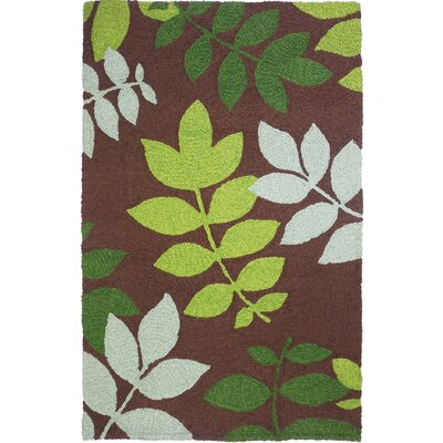 Janney Natures Floor Hand-Hooked Brown Indoor/Outdoor Area Rug Rug Size: Rectangle 410 x 66