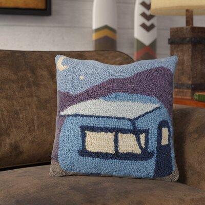 Rangeworthy Camper at Night Wool Throw Pillow