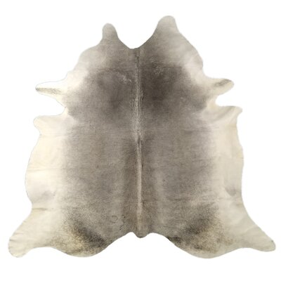 One-of-a-Kind Deforge Natural Cowhide Gray Area Rug