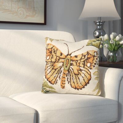Friddle Moth Wool Throw Pillow