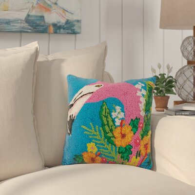 Kenmore Tropical Flamingo Wool Throw Pillow