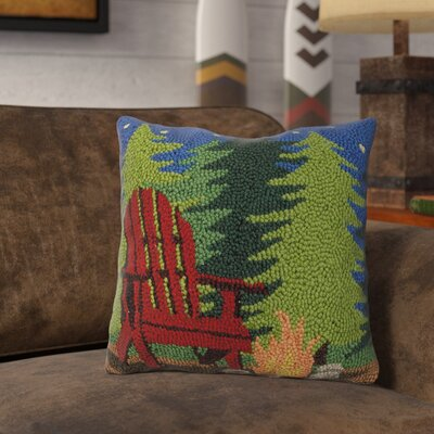 Rethman Campfire Scene Wool Throw Pillow