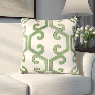 Fremantle Applique Cotton Throw Pillow