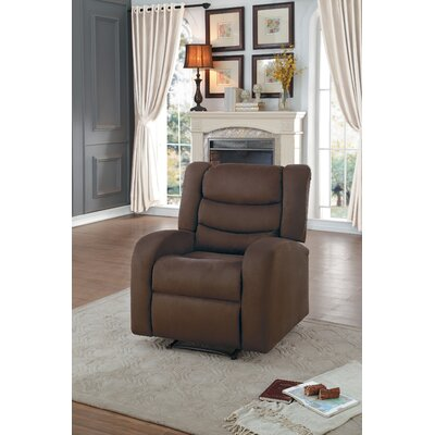 Farleigh Hungerford Manual Recliner Upholstery: Chocolate