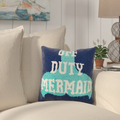 Hoban Off Duty Mermaid Wool Throw Pillow