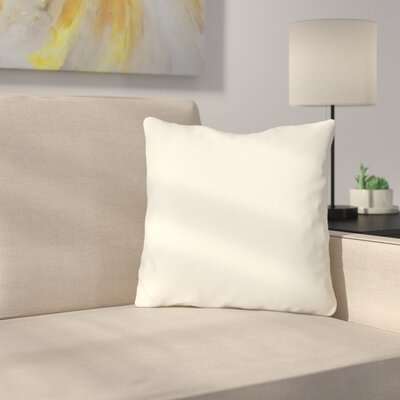 Bilderback Outdoor Throw Pillow Color: Ivory