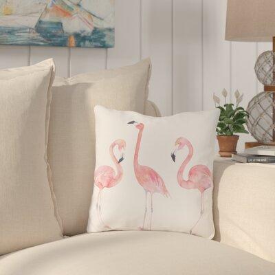 Longview Flamingo Friends Outdoor Throw Pillow Size: 18 x 18