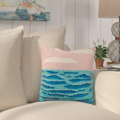 Hipple Pastel Beach Wool Throw Pillow