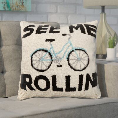 Dyal See Me Rolling Wool Throw Pillow