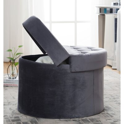 Narvaez Storage Ottoman Upholstery: Gray