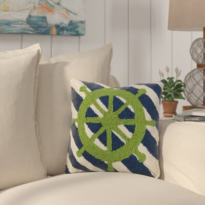 Eakin Captains Wheel Stripes Wool Throw Pillow