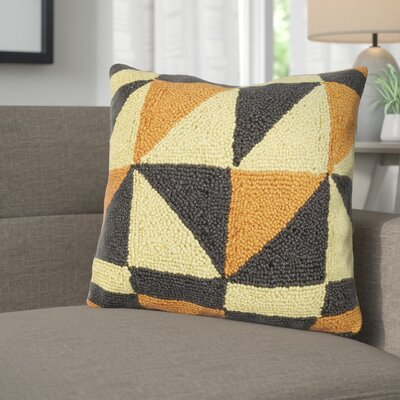 Caywood Geometric Square Wool Throw Pillow