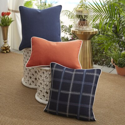 Midnight Tartan 3 Piece Indoor/Outdoor Pillow Set