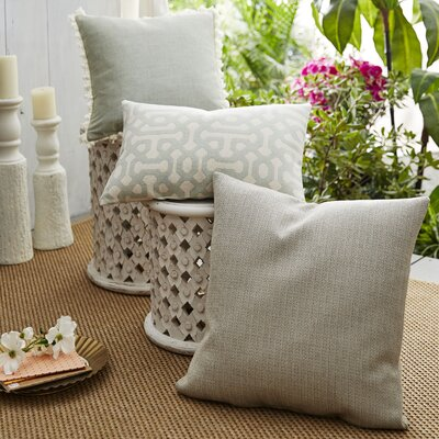 Coastal Fretwork 3 Piece Indoor/Outdoor Pillow Set
