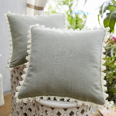 Coastal Fretwork Indoor/Outdoor Throw Pillow