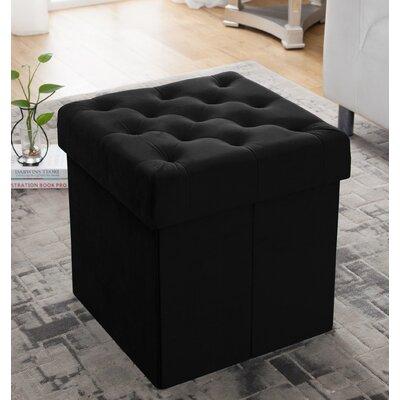 Nason Storage Ottoman Upholstery: Black