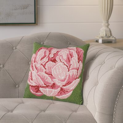 Gammon Peony Wool Throw Pillow