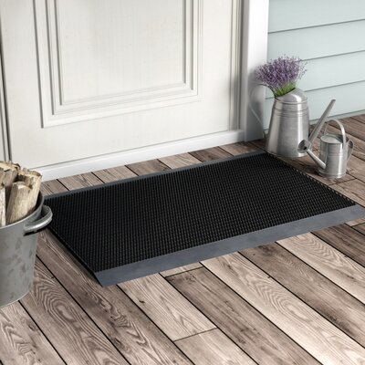 Ultimate Outdoor Bristle Doormat Mat Size: Rectangle 1.5 x 2.5, Color: Black