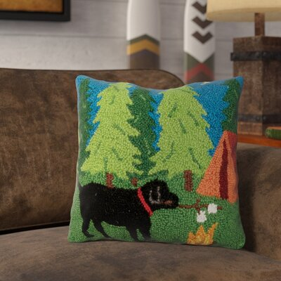 Revell Lab Campfire Wool Throw Pillow