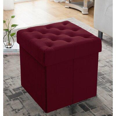 Nason Storage Ottoman Upholstery: Burgundy