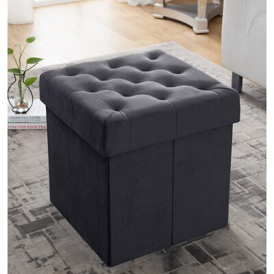 Nason Storage Ottoman Upholstery: Gray