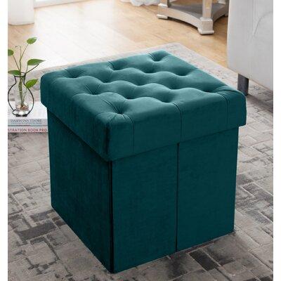 Nason Storage Ottoman Upholstery: Teal