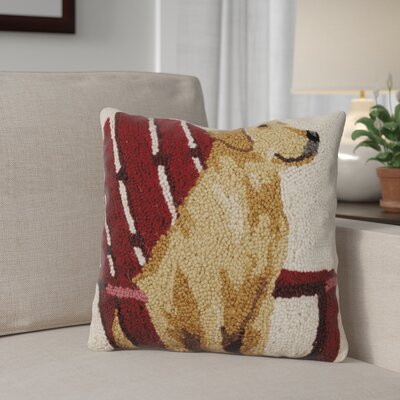 Netherby Retreiver with Adirondack Wool Throw Pillow