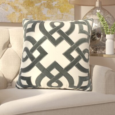 Mcnair Applique Cotton Throw Pillow