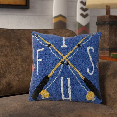 Rascon Fish Rods Wool Throw Pillow