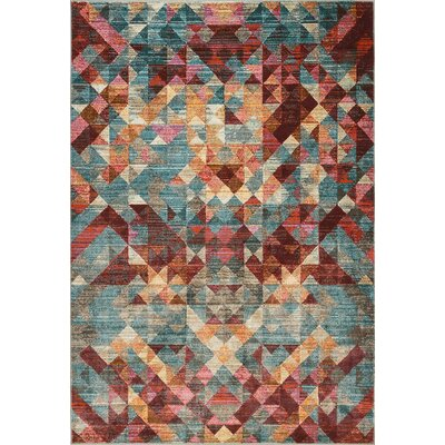 Ramer Geometric Soft Red Area Rug Rug Size: Rectangle 28 x 5