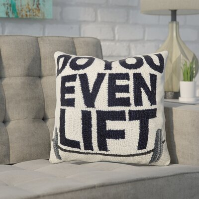 Durgin Do You Even Lift Wool Throw Pillow