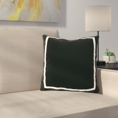 Biller Simple Square Outdoor Throw Pillow Color: Black, Size: 16 x 16