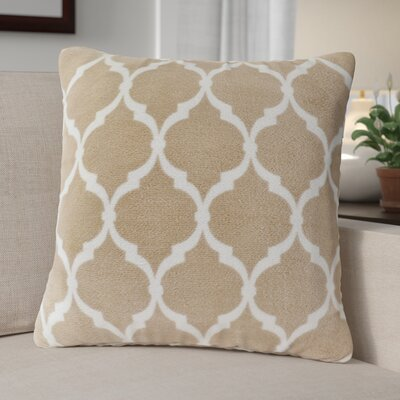 Flannagan Square Throw Pillow Color: Tan