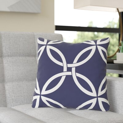 Jenkintown Interwoven Circles Outdoor Throw Pillow Color: Midnight