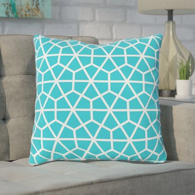 Alcock Outdoor Throw Pillow Color: Turquoise
